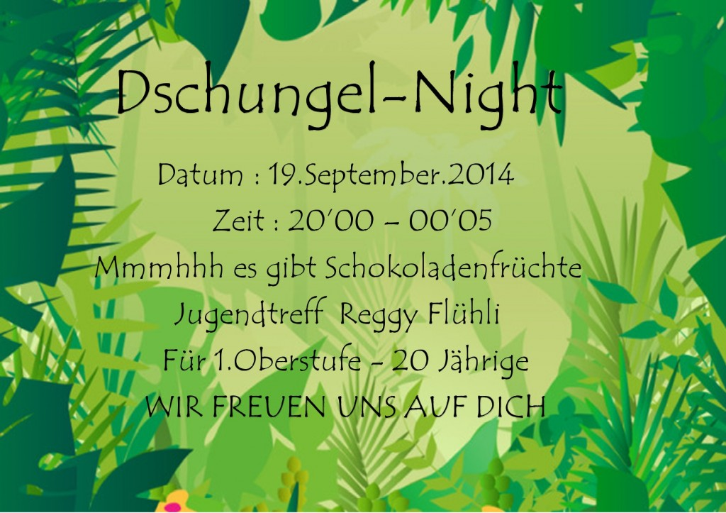 Dschungel Reggy Flyer-1