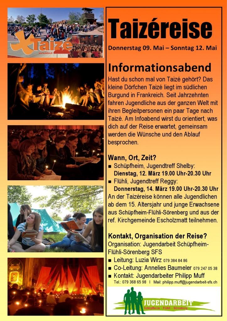 Flyer und Poster Taizéreise-1