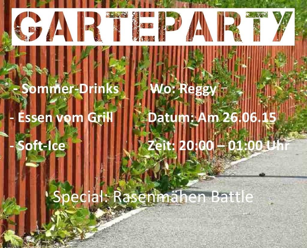 Garteparty Flyer