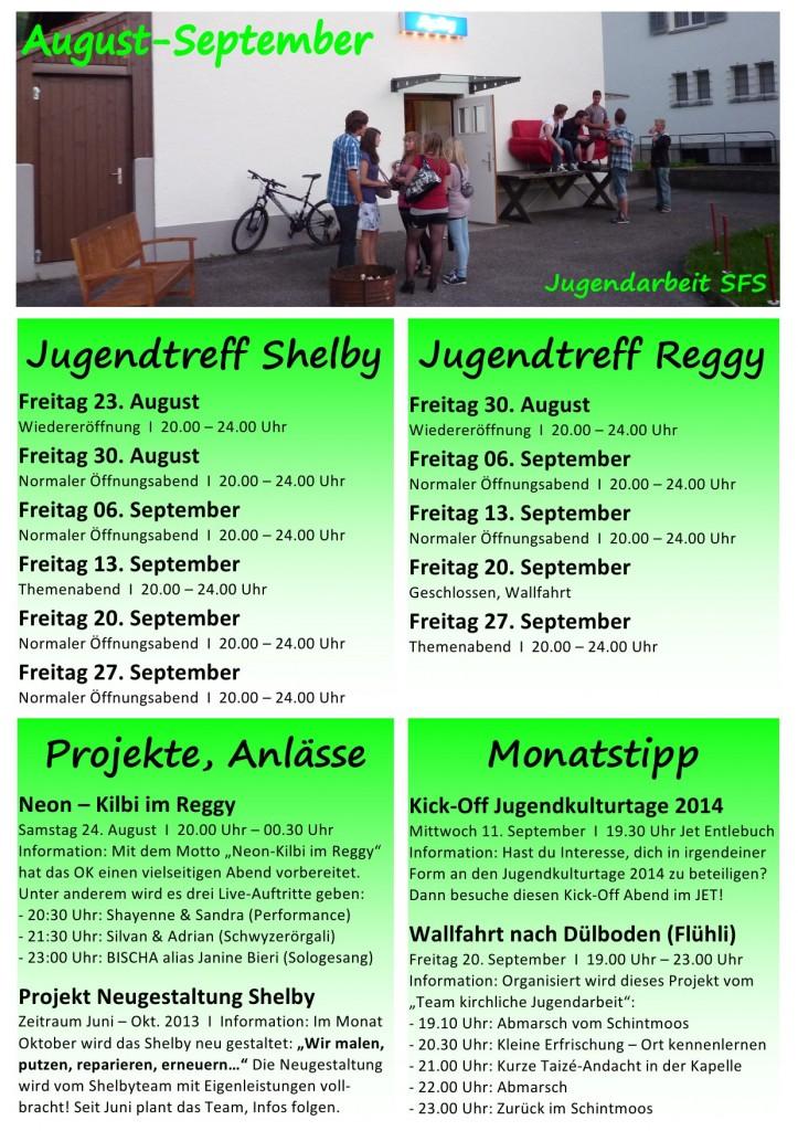 Monatsprogramm Sept-Okt 2013