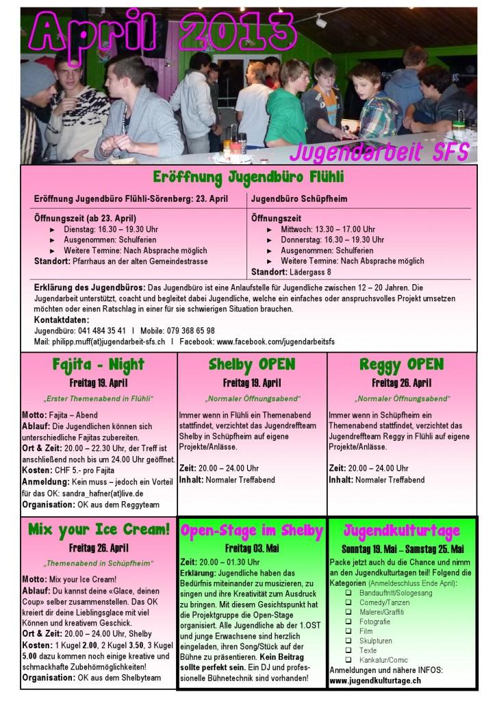 Programm April 2013