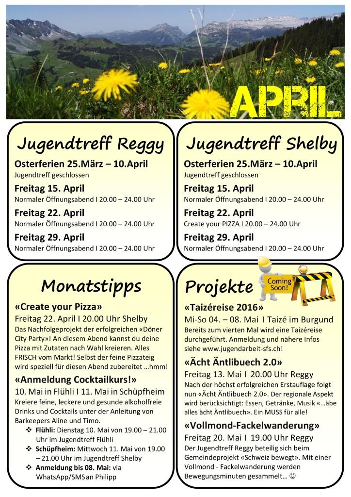 Programm April 2016