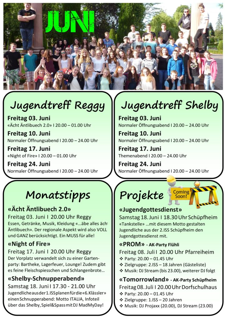 Programm Juni 2016