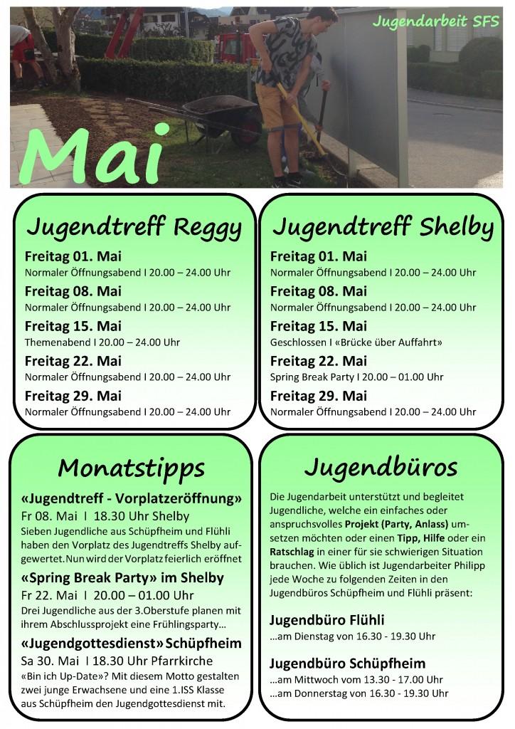Programm Mai Schüpfheim