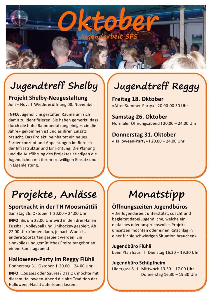 Programm Oktober