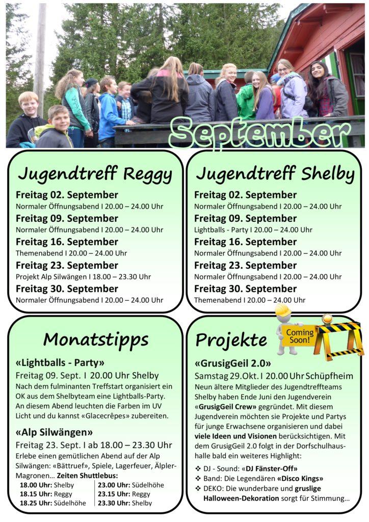 Programm September 16 Flühli