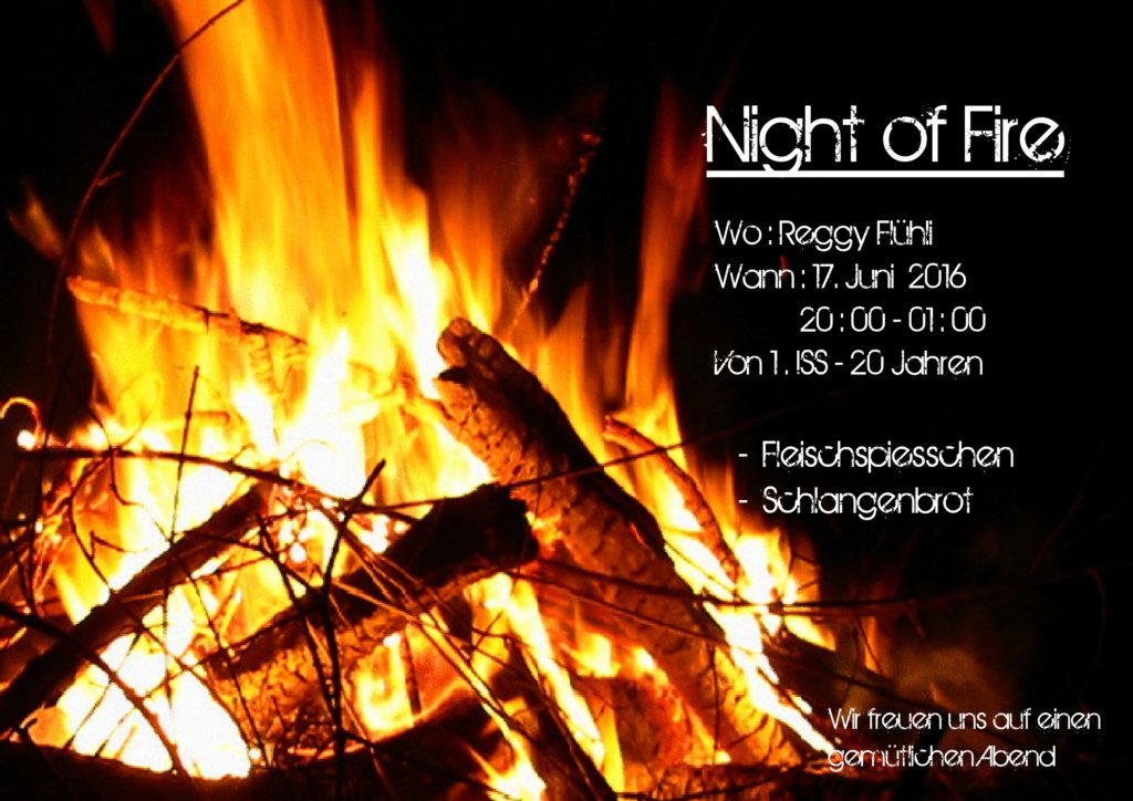 flyer Night of fire