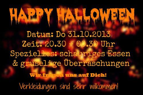 flyer halloween 31.10.13